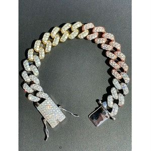 Harlembling Miami Cuban Link Tri Color Bracelet